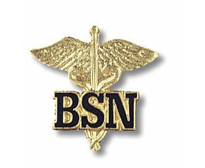 Bachelor of Science in Nursing (Caduceus) Emblem Pin