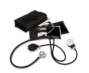 Aneroid Sphygmomanometer / Clinical Lite Stethoscope Kit, Adult, Black