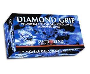 Diamond Grip Latex Exam Gloves - Extra Large , Box/100