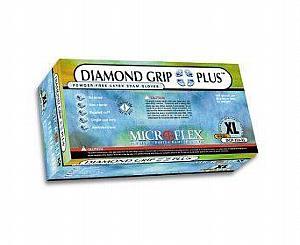 Diamond Grip Plus Latex Exam Gloves - Extra Large , Box/100