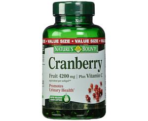 Cranberry Fruit 4200mg Plus Vitamin C, 250 Softgels