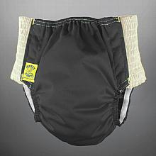 Antsy Pants™ size Medium in Black with White easy-stretch sides