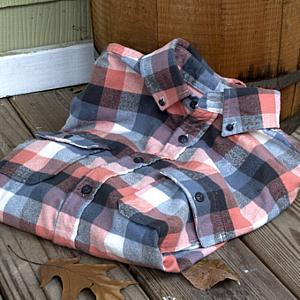 Plaid Button Down Shirt Large, Red Maple
