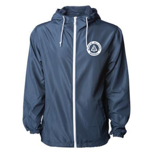 Gracie Navy Windbreaker