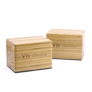 Bamboo Handstand Blocks x2 | YOGABODY® Original with Non-Slip Rubber Bottoms | FREE online Pose Chart