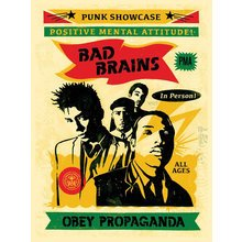 "Obey Giant ""Bad Brains '16"" Signed Screen Print"