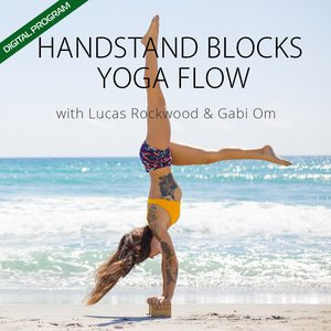 HandStand Blocks Video - ONLINE PROGRAM with FREE PDF Pose Chart