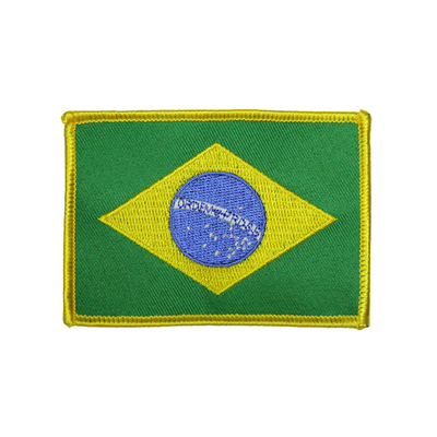 "(3.5x2.5"") Brazilian Flag Patch"