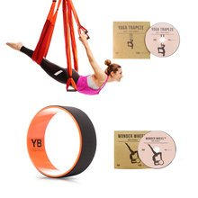 Orange Yoga Trapeze and Orange Wonder Wheel Bundle