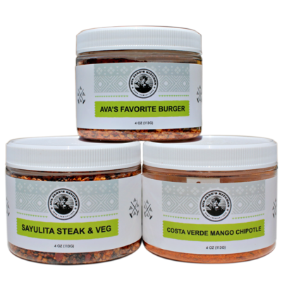 Summer Spice Blends - Ava's Favorite Burger, Sayulita Steak/ Veg, Costa Verde Mango Chipotle
